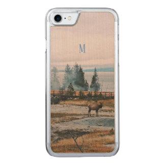 Winter Snowfall trees reindeer joy holidays Carved iPhone 8/7 Case