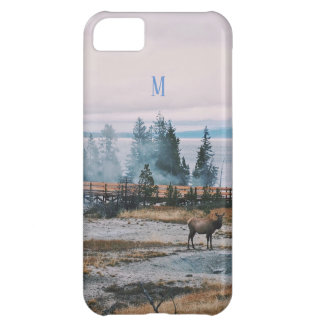 Winter Snowfall trees reindeer joy holidays Cover For iPhone 5C