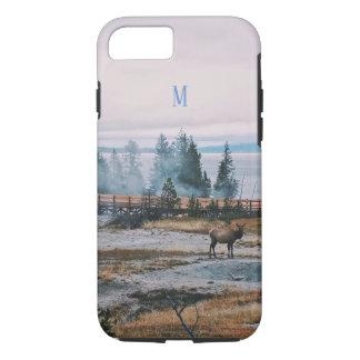 Winter Snowfall trees reindeer joy holidays iPhone 8/7 Case