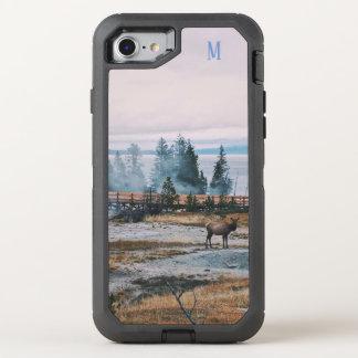 Winter Snowfall trees reindeer joy holidays OtterBox Defender iPhone 8/7 Case