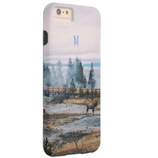 Winter Snowfall trees reindeer joy holidays Tough iPhone 6 Plus Case