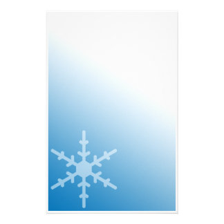 Winter Snowflake Blue Gradient Stationery Design