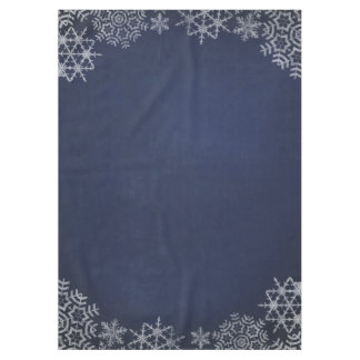 Winter Snowflake Chalkboard Wedding Tablecloth