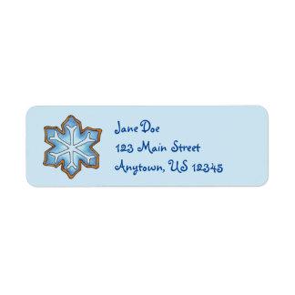 Winter Snowflake Cookie Christmas Hanukkah Labels