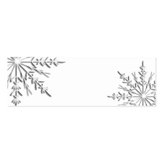 Winter Snowflake Gift Tags Pack Of Skinny Business Cards