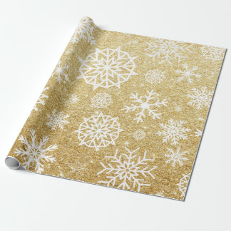 Winter Snowflake Gold Glitter Christmas