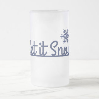 Winter Snowflake, Holiday Frosted Glass Beer Mug