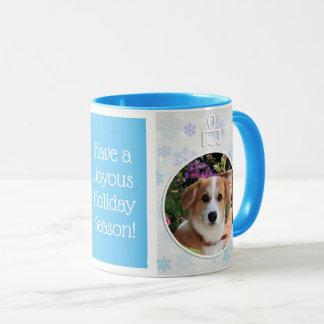 Winter Snowflake Holiday Photo Mug