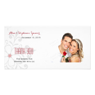 Winter Snowflake Holiday Thank You Photo Cards