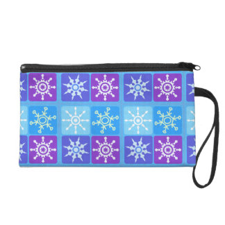 WInter Snowflake Kind Of Day Wristlet