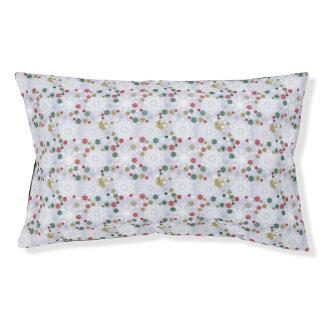 Winter Snowflake Pattern Pet Bed