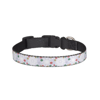 Winter Snowflake Pattern Pet Collar