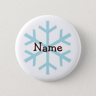 Winter Snowflake Personalized Gifts 2 Inch Round Button