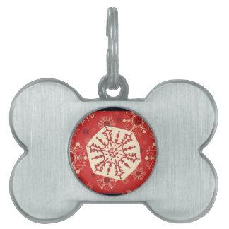 Winter snowflake pet tag