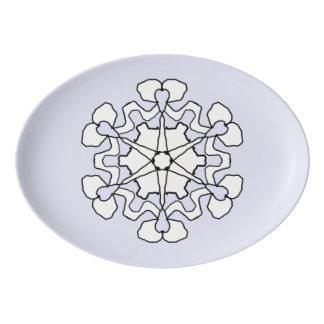 Winter Snowflake Porcelain Serving Platter
