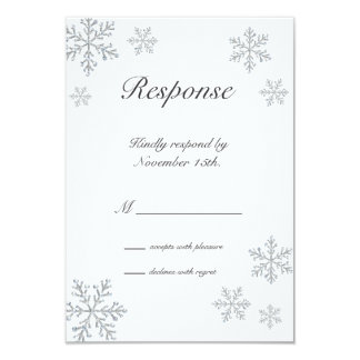 "Winter Snowflake RSVP 3.5"" X 5"" Invitation Card"