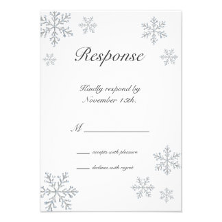Winter Snowflake RSVP Custom Invites