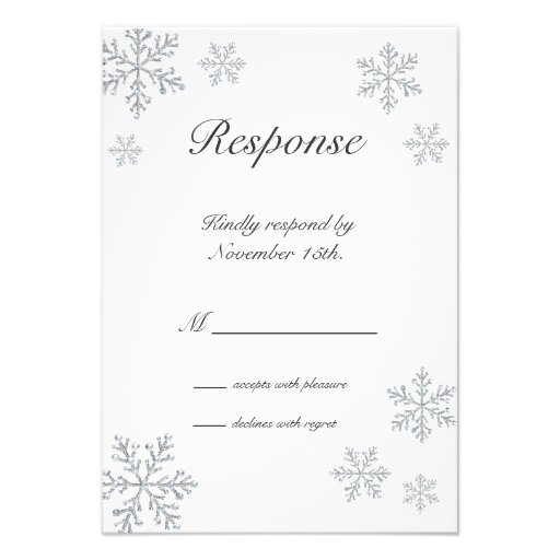 Winter Snowflake RSVP Custom Invites