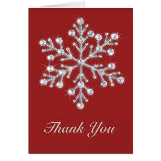 Winter Snowflake Thank You Card