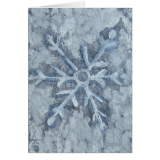 Winter Snowflake Watercolor Card