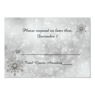 Winter Snowflake Wedding RSVP Card
