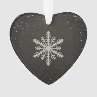 Winter Snowflake White Chalk Drawing