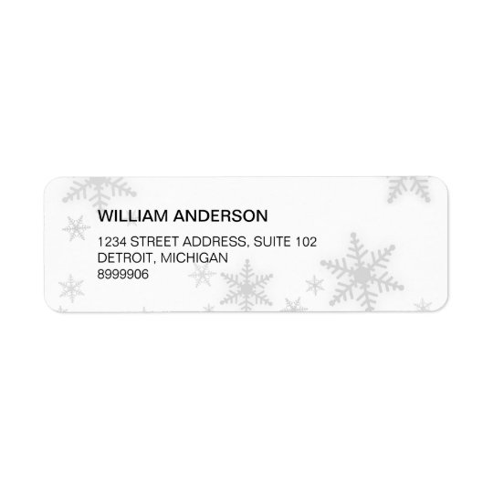 Winter Snowflakes address label