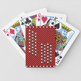 Winter Snowflakes Bicycle Playing Cards