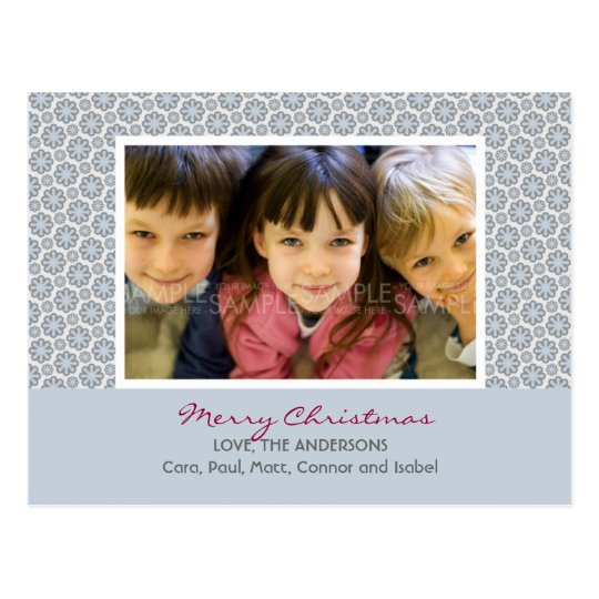 Winter Snowflakes :: Christmas Photo Postcard