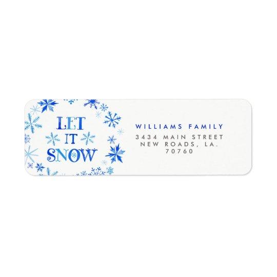 Winter Snowflakes Christmas Return Address Label