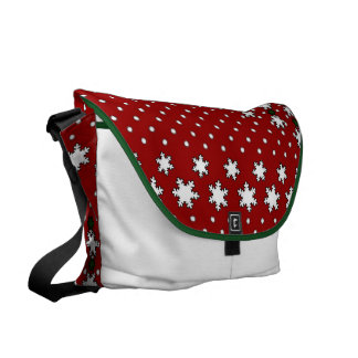 Winter Snowflakes Commuter Bags