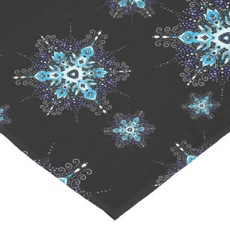 winter snowflakes elegant holiday table runner