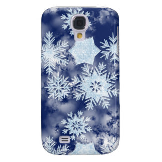 Winter Snowflakes Icy Blue