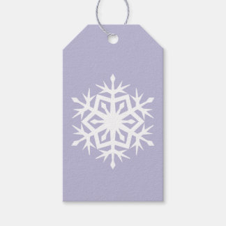Winter Snowflakes in Lavender Gift Tag Pack Of Gift Tags