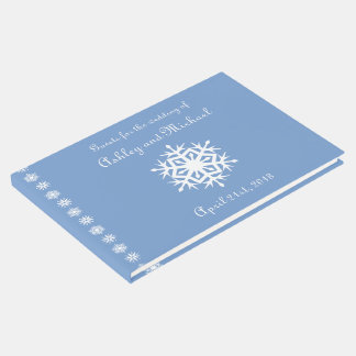 Winter Snowflakes in Periwinkle Guest Book