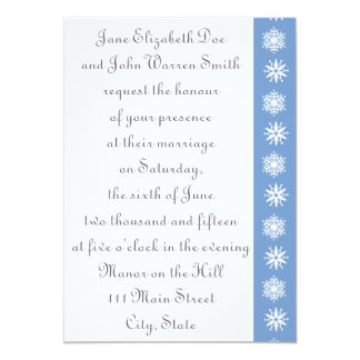 Winter Snowflakes in Periwinkle Wedding Invitation
