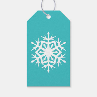 Winter Snowflakes in Turquoise Gift Tag