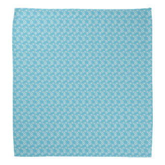 Winter Snowflakes on a Blue for Christmas Kerchief