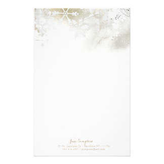 Winter snowflakes personalized stationery