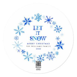 Winter Snowflakes Photo Christmas Cards