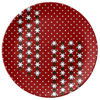 Winter Snowflakes Plate