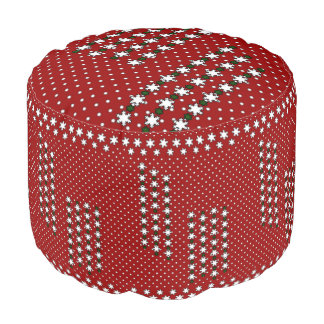 Winter Snowflakes Pouf