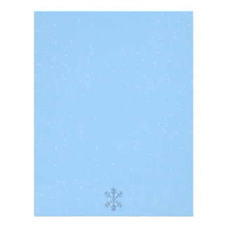 Winter Snowflakes Seasonal Christmas Letterheads Letterhead Template