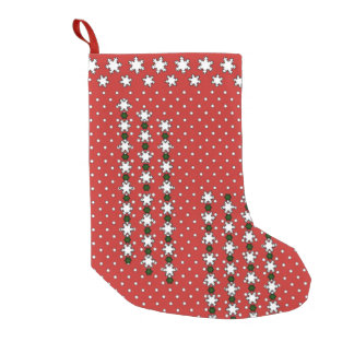 Winter Snowflakes Small Christmas Stocking