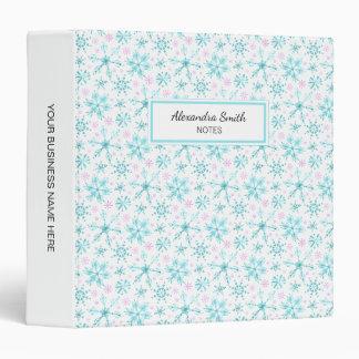 Winter Snowflakes Vinyl Binder