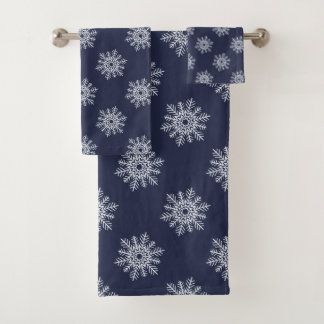 Winter Snowflakes Washcloth Hand and/or Bath Towel