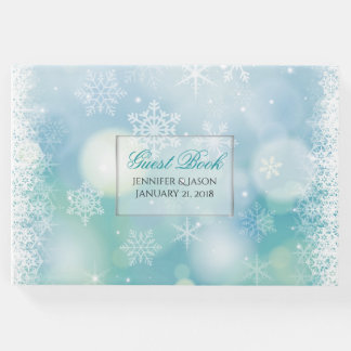 Winter Snowflakes Wedding Guest Book