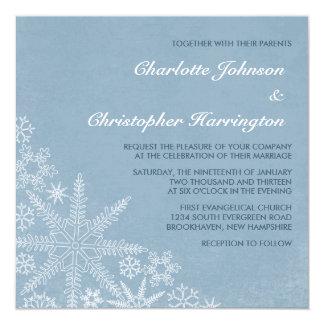Winter Snowflakes Wedding Invitations