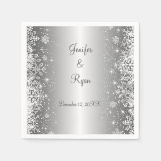 Winter snowflakes wedding  Napkins Paper Napkin
