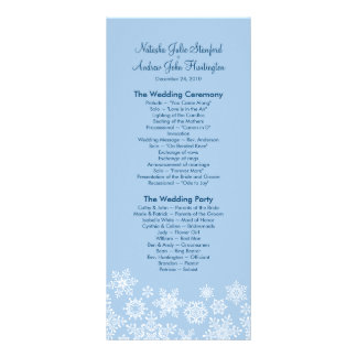 Winter Snowflakes Wedding Program Photo Keepsake